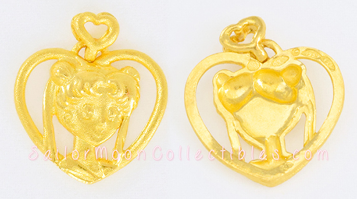 """sailor moon"" ""sailor moon collectibles"" ""sailor moon jewelry"" ""sailor moon pendant"" ""sailor moon necklace"" usagi 999 gold heart"
