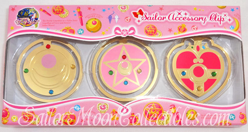 """sailor moon"" ""sailor moon toys"" ""sailor moon compact"" ""sailor moon locket"" ""cosmic heart"" ""crystal star"" prism transformation ""sailor moon 2013"" ""sailor moon anime"" toys collectibles japan anime bandai stationery clip"