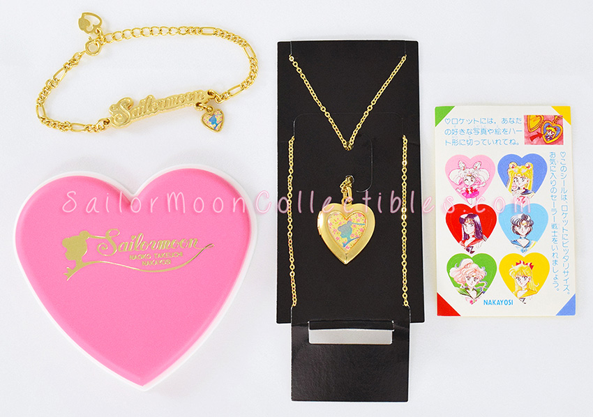 """sailor moon"" ""sailor moon merchandise"" ""sailor moon collectibles"" ""sailor moon jewelry"" ""sailor moon locket"" ""sailor moon necklace"" ""sailor moon bracelet"" nakayoshi gold bracelet necklace"