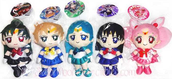 """sailor moon"" ""sailor moon plush"" ""sailor moon toys"" outer senshi sailor saturn pluto chibimoon neptune uranus ""sailor moon merchandise"" ""20th anniversary"" dolls bandai anime toy japan"