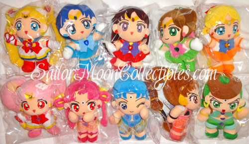 """sailor moon"" ""sailor moon toys"" ""sailor moon plush"" ""sailor moon merchandise"" ""amazoness quartet"" dolls sailor venus jupiter mars mercury chibimoon ""sailor moon collection"""