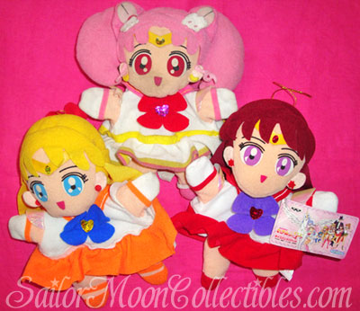 """sailor moon"" ""sailor moon toys"" ""sailor moon plush"" ""sailor moon merchandise"" supers ""super sailor moon"" banpresto doll sailor venus mars chibimoon anime japan"
