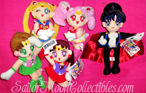 """sailor moon"" ""sailor moon toys"" ""sailor moon plush"" ""sailor moon merchandise"" supers ""super sailor moon"" ""tuxedo mask"" sailor jupiter mars chibimoon doll banpresto"