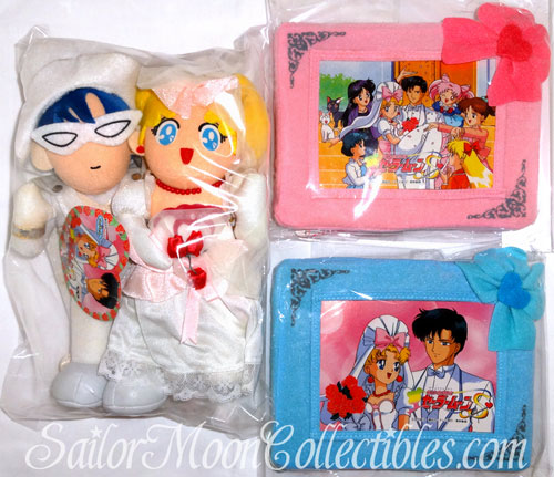 """sailor moon"" ""sailor moon toys"" ""sailor moon plush"" ""sailor moon merchandise"" wedding banpresto ""tuxedo mask"" usagi mamoru serena darien doll"