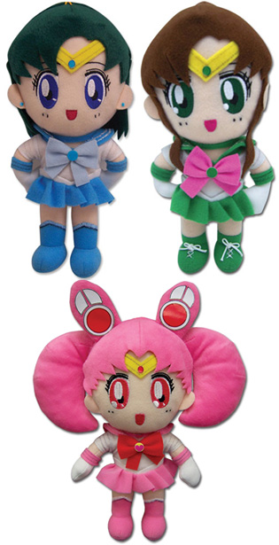 &quot;sailor moon&quot; &quot;sailor moon toys&quot; &quot;sailor moon 2013&quot; new plush ge japan anime &quot;sailor mercury&quot; &quot;sailor jupiter&quot; &quot;sailor chibimoon&quot; plushies