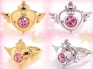 """sailor moon"" ""sailor moon toys"" ""sailor moon 2013"" ""sailor moon jewelry"" ring gold silver heart swarovski crystal anime japan new merchandise jewellery"