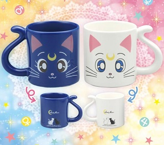 """sailor moon"" ""sailor moon merchandise"" ""sailor moon toys"" ""where to buy"" ""shopping guide"" ""20th anniversary"" 2013 2014 anime japan bandai luna artemis mug cup"