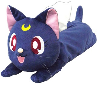 """sailor moon"" ""sailor moon toys"" ""sailor moon merchandise"" ""sailor moon 2013"" luna tissue box plush toy stuffed animal anime new merchandise japan bandai"