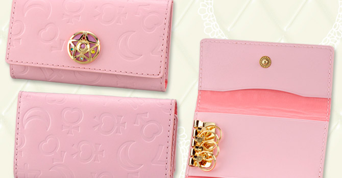 NEW Sailor Moon Pink Leather Pass Case, ID Case & Key Case