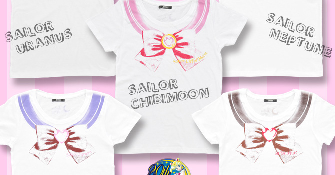 NEW Sailor Moon T-shirts Featuring Outer Senshi & Chibimoon!