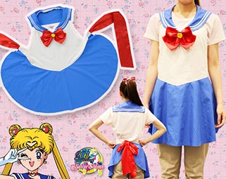 """sailor moon"" ""sailor noon merchandise"" ""sailor moon 2014"" ""sailor moon apron"" kitchen merchandise japan anime shopping fashion"