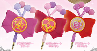 """sailor moon"" ""sailor moon merchandise"" ""sailor moon toys"" ""sailor moon compact"" ""sailor moon bow"" earphone accessories anime japan shop headphones"