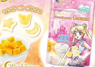 """sailor moon"" ""sailor moon merchandise"" ""sailor moon toys"" ""sailor moon candy"" ""sailor moon food"" japan anime shop snack food ""sailor moon crystal"" ""miracle romance"" bandai"