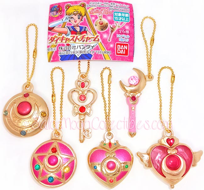"""sailor moon"" ""sailor moon gashapon"" ""sailor moon merchandise"" ""sailor moon toys"" ""sailor moon anime"" ""sailor moon wand"" ""sailor moon compact"" diecast charm 2014 anime japan toy"