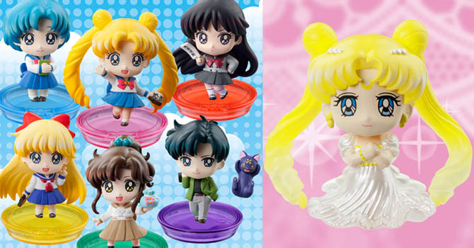 3 New Sailor Moon Petit Chara Figure Series by Megahouse