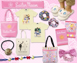 """sailor moon"" ""sailor moon apparel"" ""sailor moon accessories"" fahsion japan anime ""sailor moon compact"" luna artemis tote towel shop"
