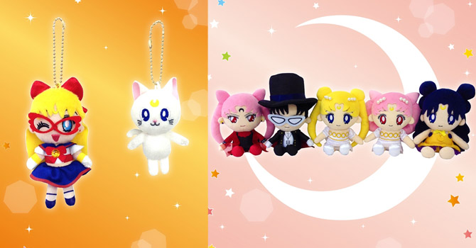 NEW Sailor Moon Plush Set 3 + Sailor V & Artemis Mascot Plush
