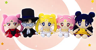 """sailor moon"" ""sailor moon toys"" ""sailor moon merchandise"" ""sailor moon 2014"" ""sailor moon plush"" japan anime shopping 2014 ""princess serenity"" luna ""black lady"" ""tuxedo mask"" plushie"