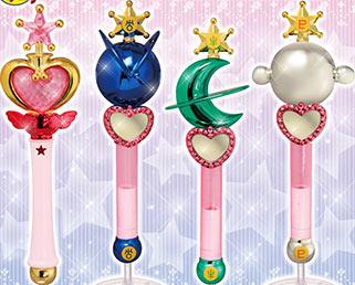 """sailor moon"" ""sailor moon toys"" ""sailor moon wands"" "" sailor moon merchandise"" liprods sailor pluto neptune uranus wand gashapon can bandai shop japan anime"