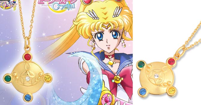 Sailor Moon Crystal Brooch Necklace Available on Premium Bandai