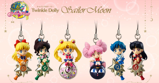 Twinkle Dolly Sailor Moon Charms Candy Toys 2015
