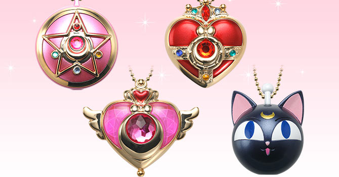 Sailor Moon Compacts & Luna-P Candy Toy Miniaturely Tablet