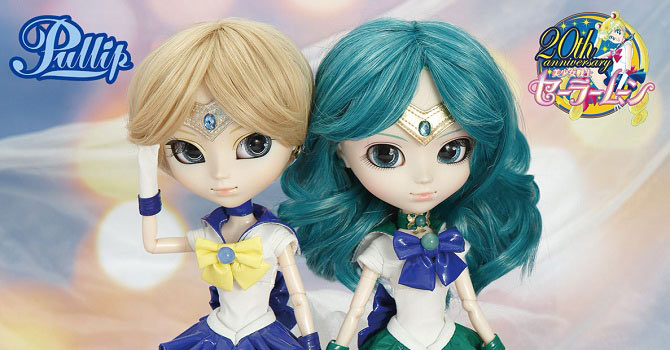 Sailor Uranus & Sailor Neptune Pullip Dolls