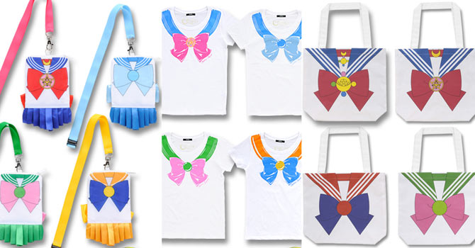 Sailor Moon Crystal Tshirts, Pouches, Tote Bags