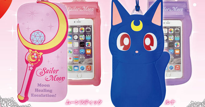 Sailor Moon Wand & Luna Drip Proof Pouch