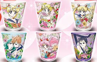 """sailor moon"" ""sailor moon merchandise"" ""sailor moon toys"" ""sailor moon cup"" ""botanical pattern"" cup acrylic anime japan shop 2016 sailor saturn pluto starlights uranus neptune chibimoon"