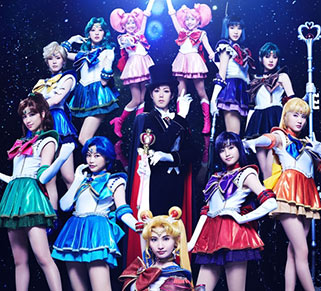 """sailor moon"" ""sailor moon merchandise"" ""sailor moon toys"" ""sailor moon musical"" ""sera myu"" ""un nouveau voyage"" anime japan theatre shop 2015"