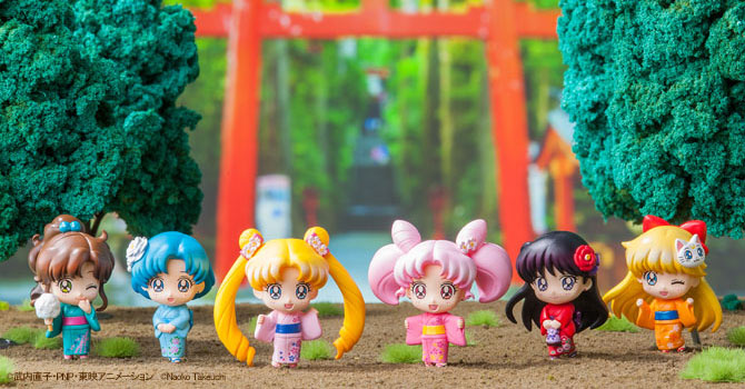 Petit Chara Sailor Moon Festival Edition Figures