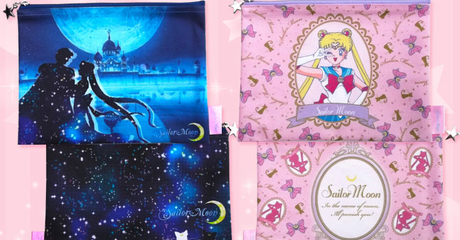 Sailor Moon Flat Pouches by Small Planet