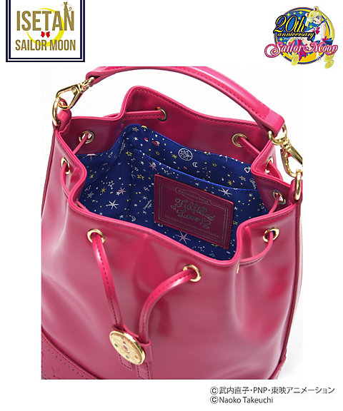 """sailor moon"" ""sailor moon merchandise"" ""sailor moon toys"" ""sailor moon samantha vega"" ""samantha vega"" bucket bag isetan collaboration fashion purse handbag shop 2016 leather ""crystal star"""