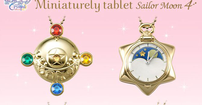 Sailor Moon Crystal Miniaturely Tablet Candy Toys Set 4