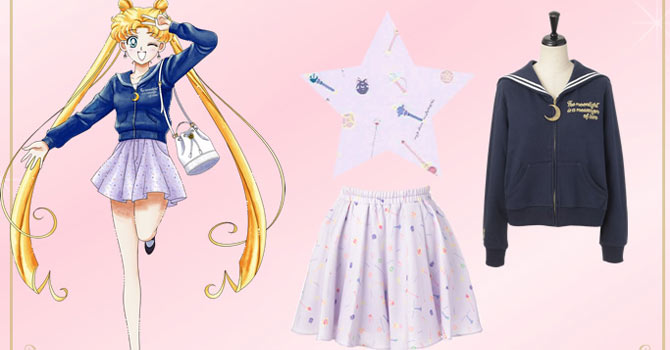 Sailor Moon x Honey Bunch Mutual Clothing Collaboration