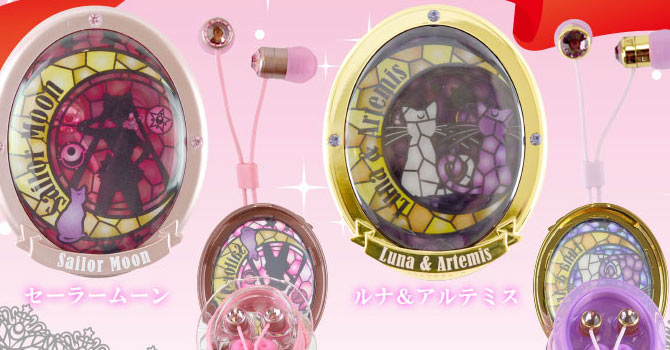 Sailor Moon Stained Glass Case & Earphones