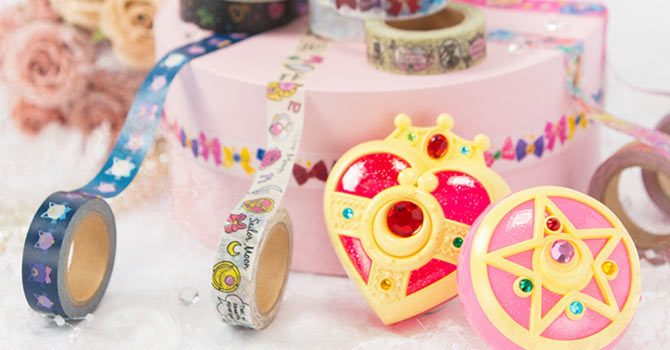 Sailor Moon Compact Tape Cutters & Masking Tape Rolls