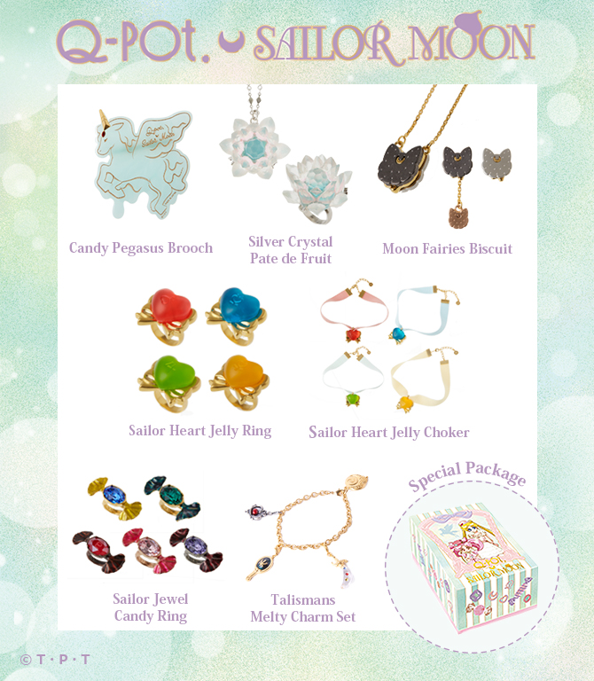 """sailor moon"" ""sailor moon merchandise"" ""sailor moon toys"" ""sailor moon jewelry"" ""sailor moon necklace"" ""sailor moon compact"" ""crisis moon compact"" pegasus ""stallion reve"" macaron chibiusa ""q pot"" shop anime japan 2017"