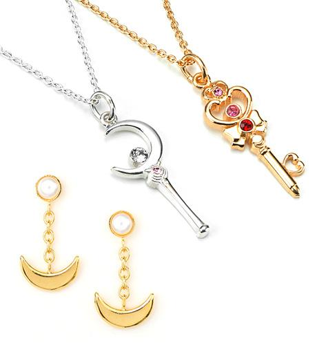 More New Sailor Moon Silver & Gold Jewelry From Japan