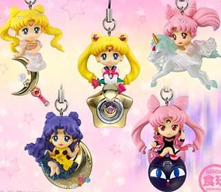 Bandai Sailor Moon Disguise transformation Pen chibi mascot Charm Key Chain