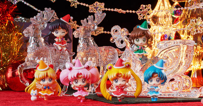 sailor moon petit chara christmas special figures
