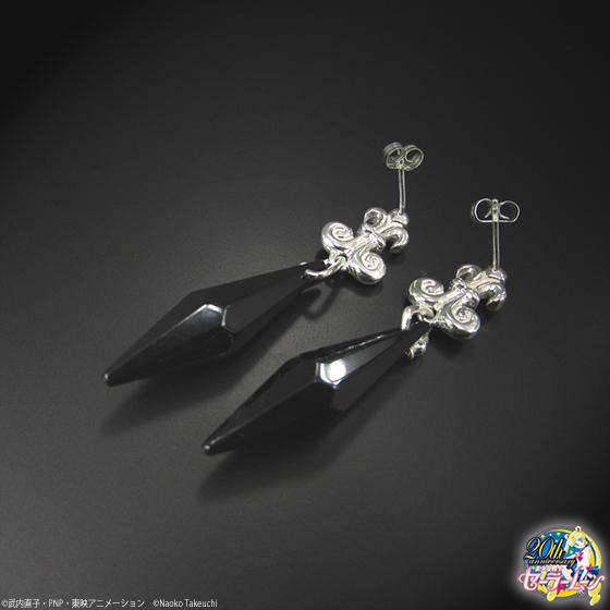 Top Sailor Moon Black Lady Evil Black Crystal EarringsSAILOR MOON  ZH34