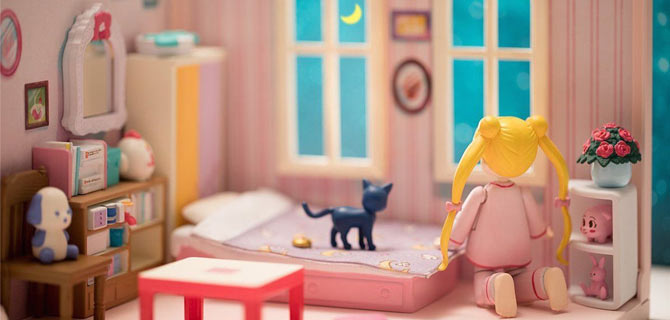 Sailor Moon Usagi S Room Doll House From Premium Bandai